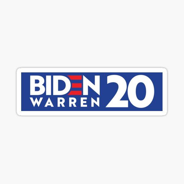Biden / Warren 2020 Bumper Sticker Sticker