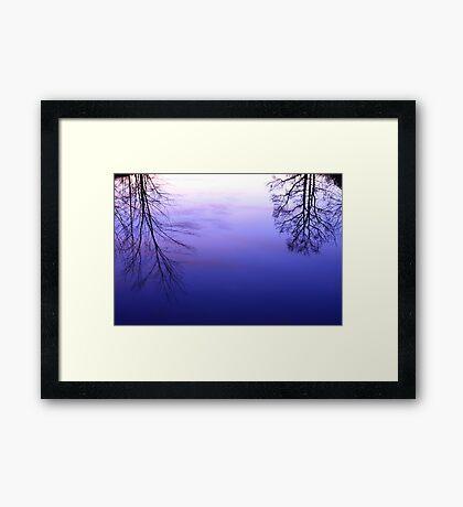Pond Reflection at Dusk Framed Print