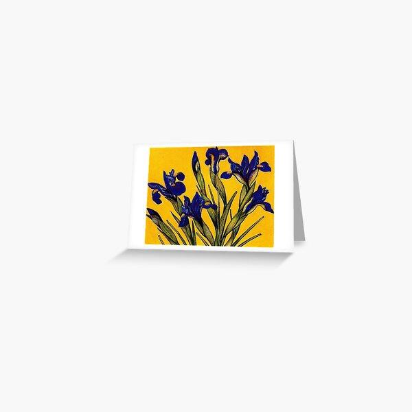 Dutch Iris Greeting Card