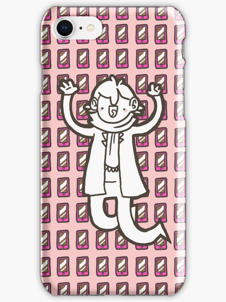 Sherlock/Pink Phone iPhone Case by geothebio