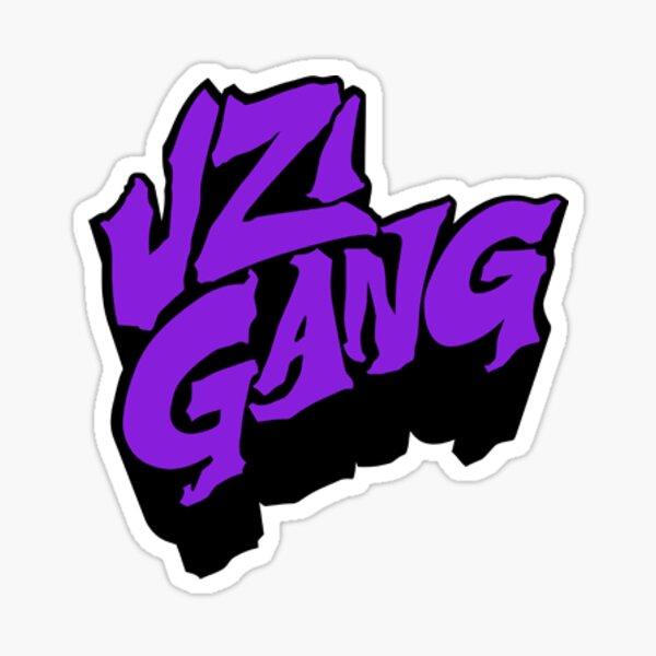 purple uzi-gang Sticker