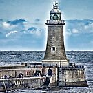 Harbour Light - Tynemouth. by Trevor Kersley