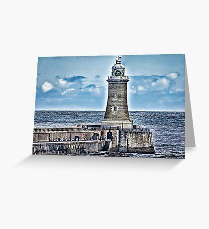 Harbour Light - Tynemouth. Greeting Card