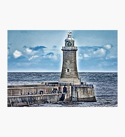 Harbour Light - Tynemouth. Photographic Print