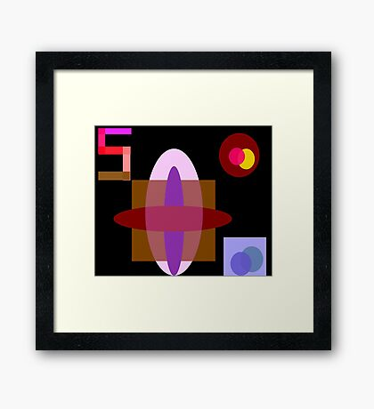 Pacifier Framed Print