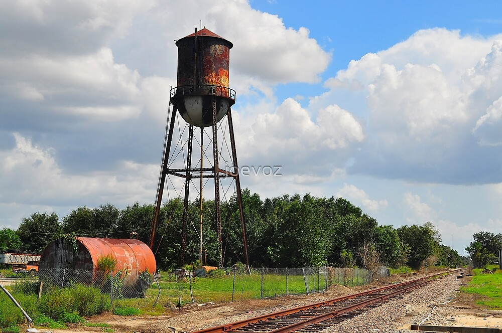 Water Tower at Industrial Site by joevoz