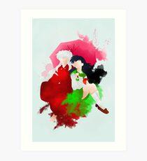 Inu Yasha and Kagome Giclee Art Print Art Print
