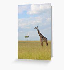 Maasai Giraffe Greeting Card