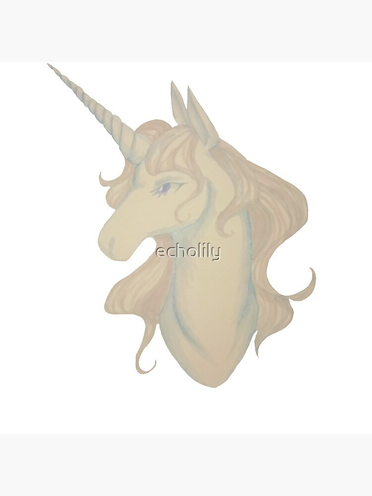 White unicorn by echolily