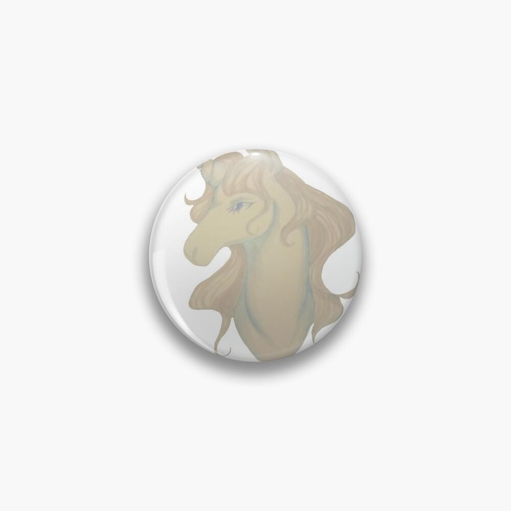 White unicorn Pin