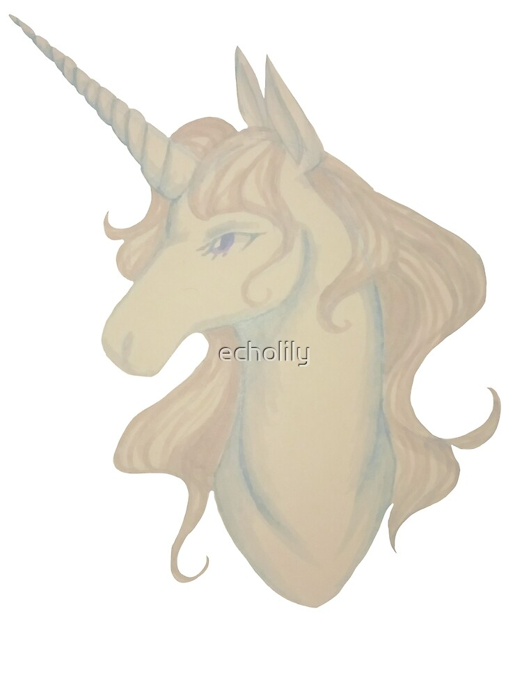 White unicorn by echolily