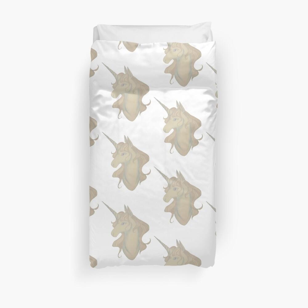 White unicorn Duvet Cover