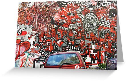 Unbelievable red graffiti by Carol Dumousseau