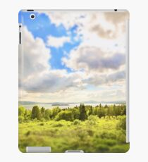 Sunny Lakeside Landscape iPad Case/Skin