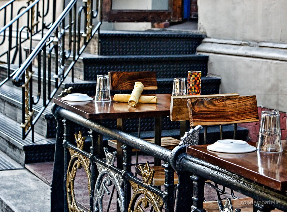 Outdoor Cafe -New York City by ronda chatelle