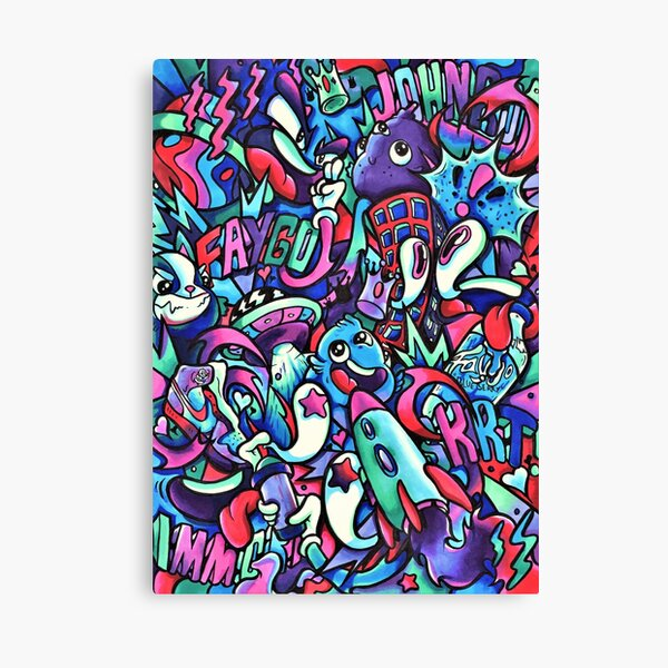F A Y G O // Copic Marker Doodle Canvas Print