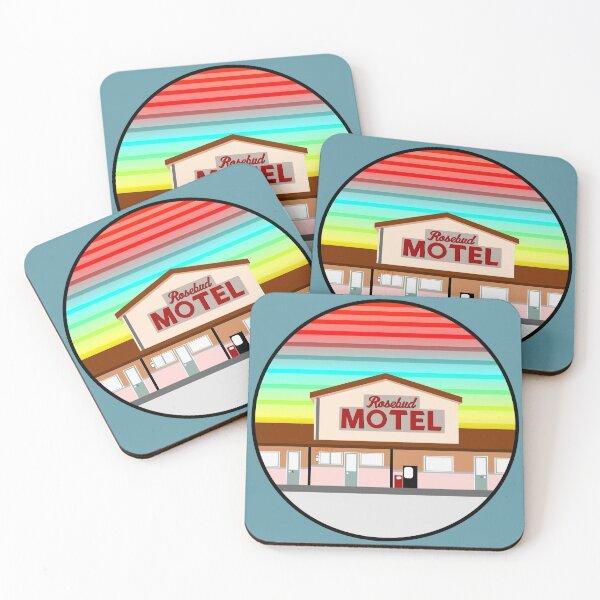 ROSEBUD MOTEL SCHITT'S CREEK Coasters (Set of 4)