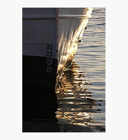Gothenburg quayside reflections Photographic Print