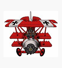 Red Baron airplane funny cartoon Photographic Print