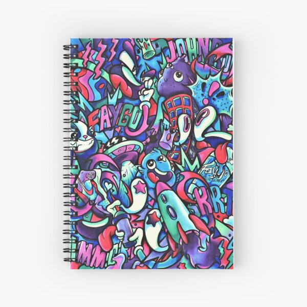 F A Y G O - Copic Marker Doodle Art Spiral Notebook