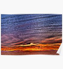 Ripples of  Sunset Poster