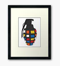 Rubik's Grenade Framed Print