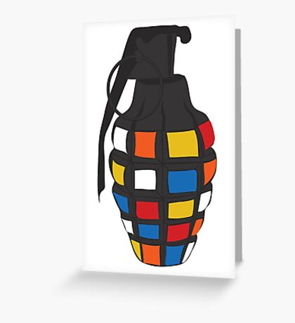 Rubik's Grenade Greeting Card