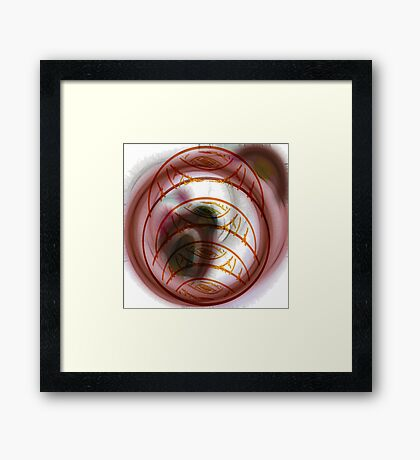 Faces / Layers Framed Print
