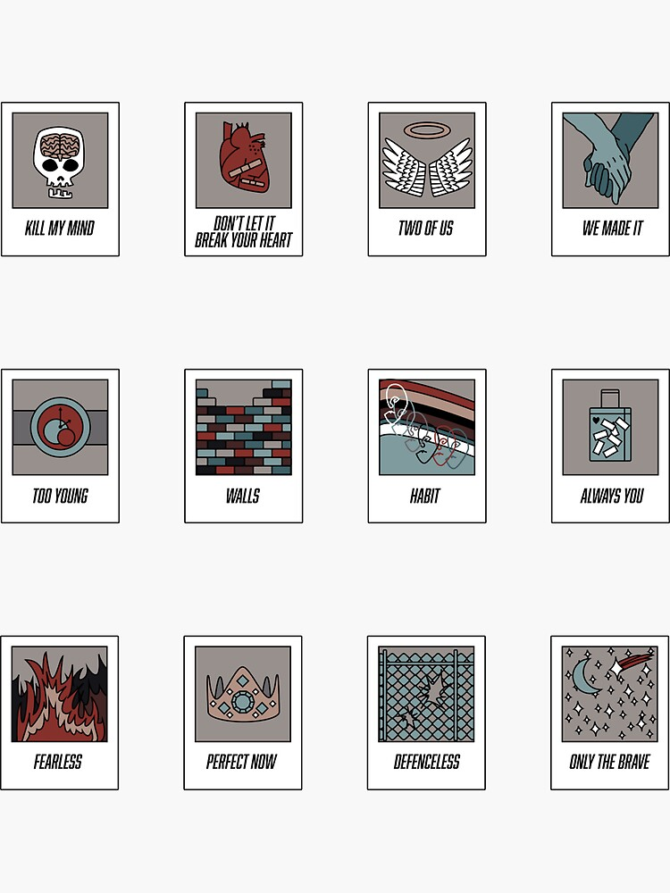 Louis Tomlinson Walls Polaroid Sticker Pack by Kingryder