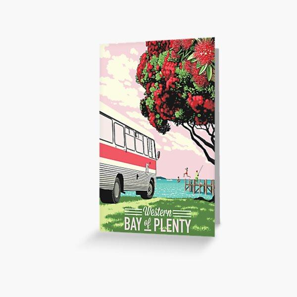 Bedford Bus + Pohutukawa Greeting Card