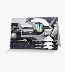 Geometrical Graffiti Greeting Card