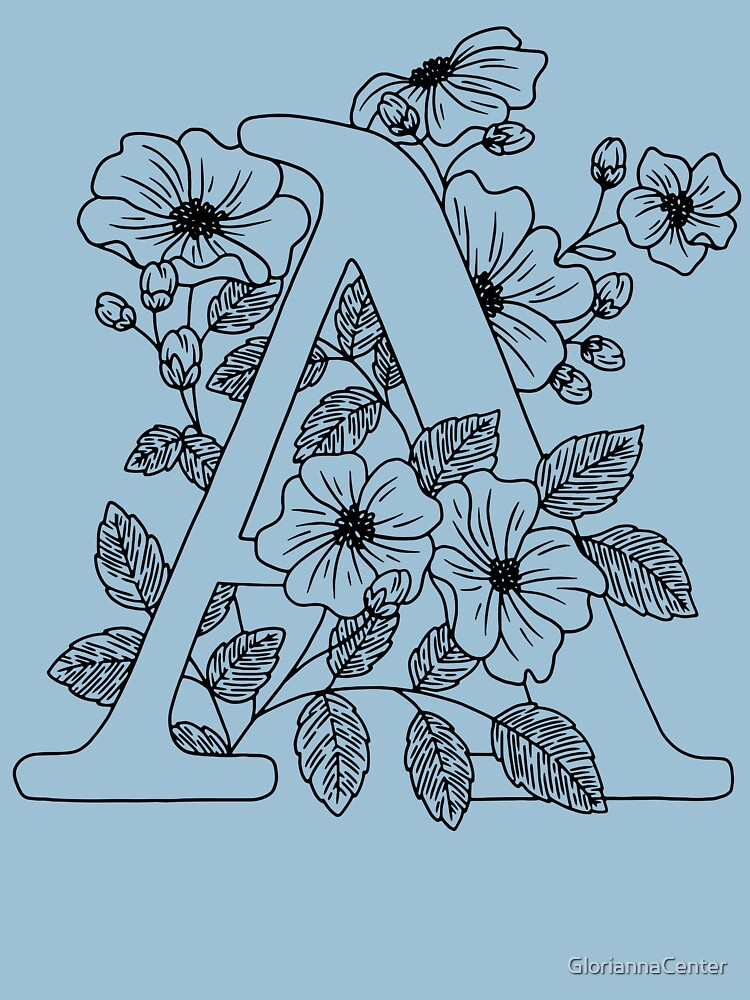 Floral letter A by GloriannaCenter