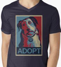 Adopt The Dog Men's V-Neck T-Shirt