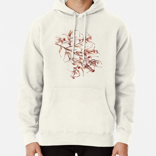 Eucalyptus Leaves and Buds on a Branch Pullover Hoodie
