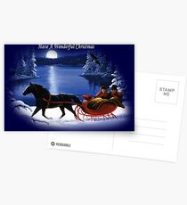 Moonlight Ride - Have A Wonderful Christmas Postcards