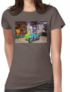 Marty and Doc ride Womens Fitted T-Shirt