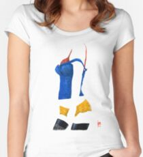 """""""Sexy Clothing l"""" Acrylic Artwork Women's Fitted Scoop T-Shirt"""