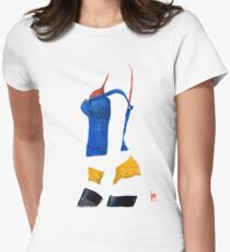 """""""Sexy Clothing l"""" Acrylic Artwork Women's Fitted T-Shirt"""