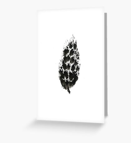 pine cone (haiga XXI) Greeting Card