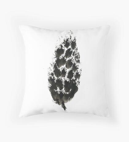 pine cone (haiga XXI) Throw Pillow