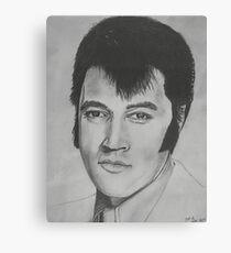 Elvis Presley - Pencil Sketch Canvas Print