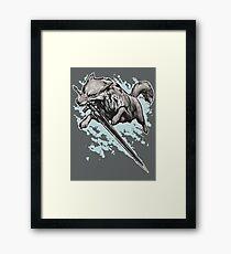 The Swordswolf Framed Print