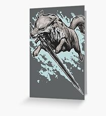 The Swordswolf Greeting Card