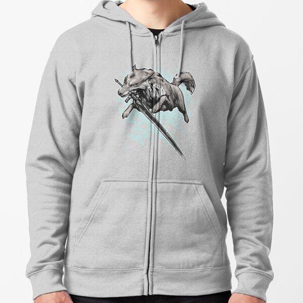 The Swordswolf Zipped Hoodie