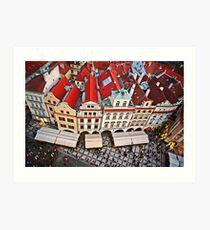 Buildings in Prague, Czech Republic Art Print