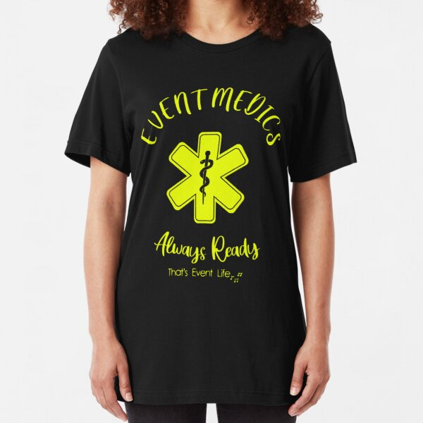 Event Medicine | Event Medics - Always Ready (Yellow) Slim Fit T-Shirt