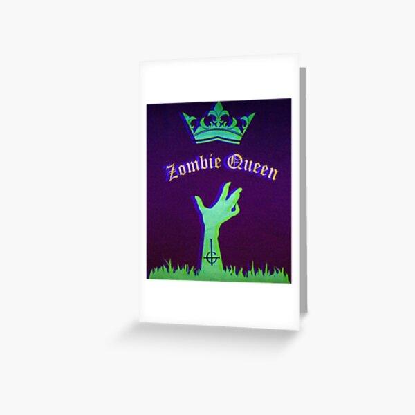 Zombie-Königin Grußkarte