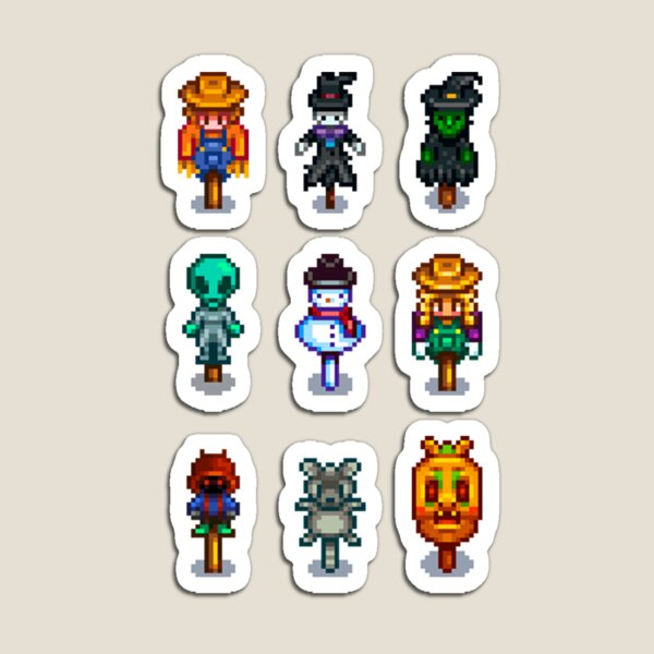 Stardew Valley Scarecrow and Rarecrows Magnet