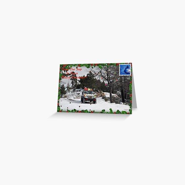 """"""" Santa's Wheels """" Greeting Card"""