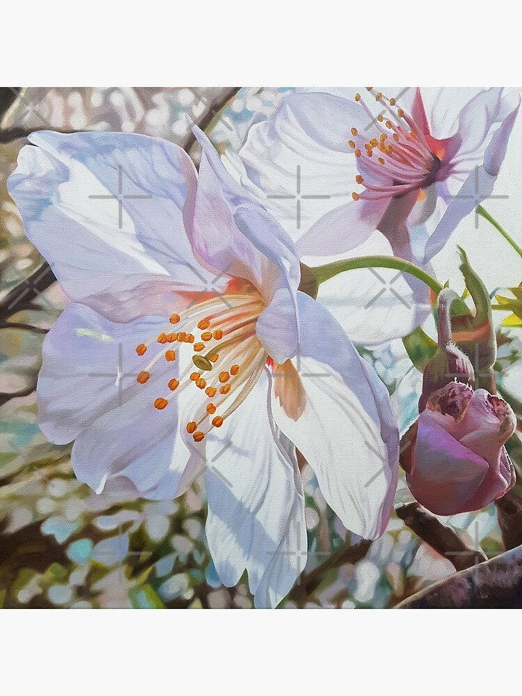 Sparks - spring cherry blossom painting by EmilyBickell